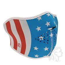 Patriotic USA Stars & Stripes Flag Glow in Dark Neoprene Face Mask Biker Ski ATV