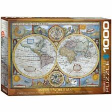 Eurographics Puzzle 1000 Peces - 1626 Antique World Map, NEW factory sealed box