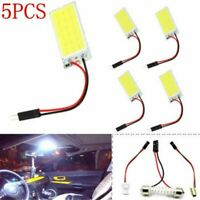 5X 48 SMD COB LED T10 12V Car Interior Panel Light Dome Lamp Bulb Supper White