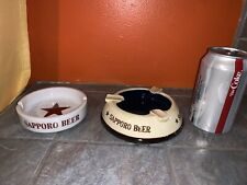 2 Vintage Sapporo Beer Ashtrays