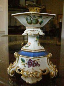 19th C Rococo Old Paris Porcelain Candlestick