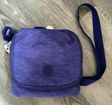 New Kipling Purple Bag Lunch Bag Kichirou Monkey Shoulder Cross Body Handbag