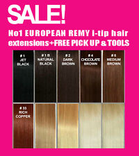 Micro Bead EUROPEAN HUMAN HAIR EXTENSIONS Salon Quality ALL COLOURS + FREE MASK