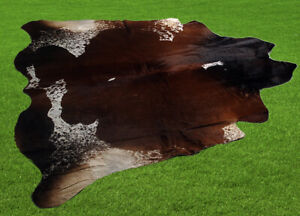 "100% New Cowhide Rugs Area Cow Skin Leather (65"" x 62"") Cow hide ES-2990"
