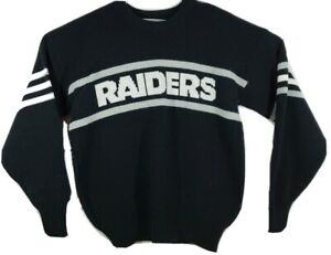 Vintage NFL Oakland Raiders Pro Line Cliff Engle Wool Blend Knit Sweater Large