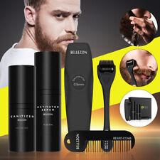 Beard Growth Kit Set Facial Beard Styling Activator Serum Oil With Roller Comb