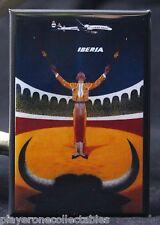 """Iberia Travel Poster 2"""" X 3"""" Fridge / Locker Magnet. Spain Portugal"""
