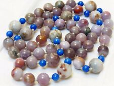 CHINESE VINTAGE Multi Color Agate, Lapis BEADS NECKLACE, no clasp