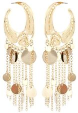 Zest Decorativo Disco Aro pendientes para orejas perforadas oro