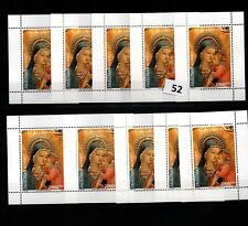 / 10X PALESTINE - MNH - ART - PAINTING - RELIGY - CHRISTMAS 2000