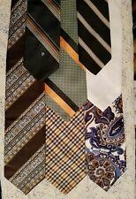 7 Vintage Wide Neck Tie Cabot Royal DiMario Fox Hill Guy Laroche Pierre Cardin+