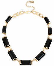 NWT Kenneth Cole New York Gold-Tone  Jet Set Faceted Stone Collar Necklace $95