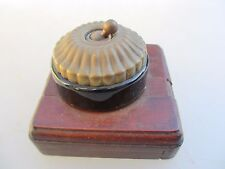 Antique Brass Ceramic Light Switch Ceramic Jelly Mould Vintage Old Wooden Plaque