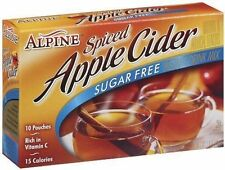 Alpine Spiced Cider Sugar-free Apple Flavor Drink Mix 10 Pouches