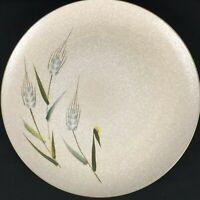"VTG Chop Plate Platter Sears Wild Rice Green Stoneware Wheat 4103 Japan 12"""