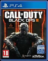 Call of Duty BLACK OPS III 3 - PS4 MINT- 1st Class FAST & FREE Delivery