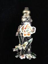 Vintage Mini Pewter Perfume Bottle With Dobber
