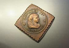Herdenkingspenning 'Amphilex 77' Nederland Amsterdam RAI 36mm brons prachtig