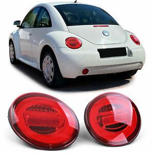 LED Lightbar Klarglas Rückleuchten Rot für VW New Beetle 9C 1Y 98-05
