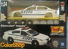 Maisto 1:24 Scale Diecast Chevrolet Impala Police Car Kit NYPD Factory Sealed!