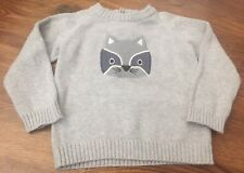 Gymboree Baby Boy Cozy Critters 18 24M Gray Long Sleeve Raccoon Pullover Sweater