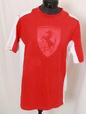 Ferrari Scuderia Logo Graphic Red White Cotton Short Sleeve T-Shirt Men's S