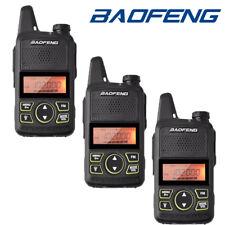 3x Baofeng T1 Walkie Talkie 2 Way Radio UHF 400-470MHZ 20CH Earpiece Long Range