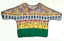 mix print multicolor silk top