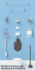 Dollhouse Miniatures 1:12 Scale Bathroom Accessories Kit Item #CB2205