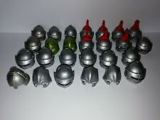 PLAYMOBIL - 26 MIXED KNIGHTS HELMETS WITH ACCESSORIES