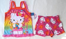 HELLO KITTY  2 pc  SUMMER PAJAMA SET CAMI  TANK TOP AND SHORTS (pink)   S(4-5)