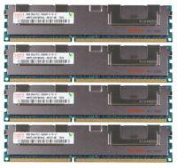 4 x 8GB (32GB Total) Hynix DDR3 1333MHz PC3-10600R Reg-DIMM ECC Server RAM