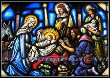 5D Diy My Diamond Art (Nativity Scene Stained Glass) Diamond Painting Kit (New)