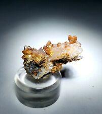 ***GORGEOUS-Red Vanadinite w/Calcite crystals on matrix, TN mine Mexico***