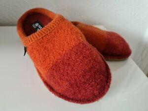Neu Haflinger Hausschuhe Pantoffeln Gr.38 Orange