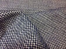 Pierre Frey Blue Mini Chevron Upholstery Fabric- Zag / Marine 7.50 yd (F2920010)
