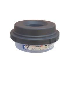 Tilty Bowl Größe XL graubraun Trinknapf für Hunde  - Auslaufsicher