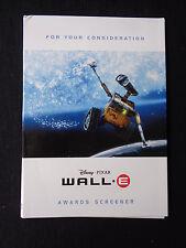 Wall-E Pixar Disney Animated original For Your Consideration FYC DVD film