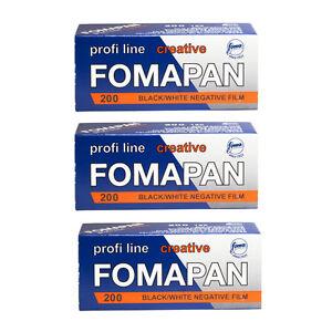 3 Rolls x FOMAPAN 200 Profi Line Creative 120 Medium Format B&W Film by FOMA