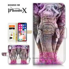 ( For iPhone XS MAX ) Wallet Case Cover P21109 Elephant