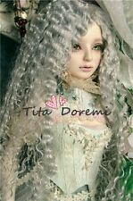 Bjd Doll parrucca  1/4 7-8 Dal MSD MDD DOD LUTS Dollfie Doll gray Toy Hair