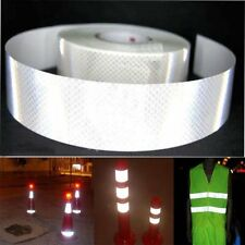 "2""x10' 3m Silver White Reflective Safety Warning Conspicuity Tape Film Sticker O"