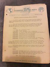 Overseas Service News - National Cash Register Co. - Feb 3 1938