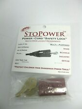 BRADY 65673 / 65673 (RQANS1) StoPower Power Cord Safety Lock Plug Hugger