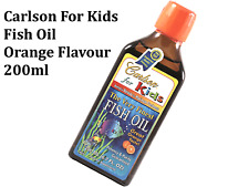Carlson for Kids Very Finest Fish Oil Orange Flavour 200ml ( bottled in Norway )