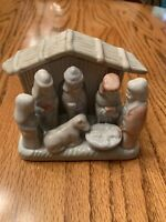 "VTG AUTOM SMALL 3 7/8""tall  X  4 1/4""wide HOLY FAMILY-BABY JESUS NATIVITY-CHINA"