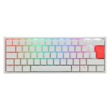 Ducky One 2 Mini RGB Mechanical Keyboard in White with Cherry MX Silent Red