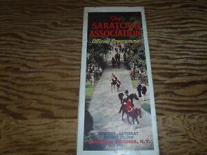 Horse RacingProgram   HofFer War Admiral    The Saratoga Cup   8/27/38