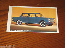 FIAT 1500 BERLINA=FIGURINA=1965/66=ALBUM FIGURINE AUTOMOBILI D'OGGI