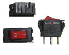 4pc Rocker Switch 3-Pin 250V16A 125V20A ON-OFF (High Current Red Light, SPST,3P)